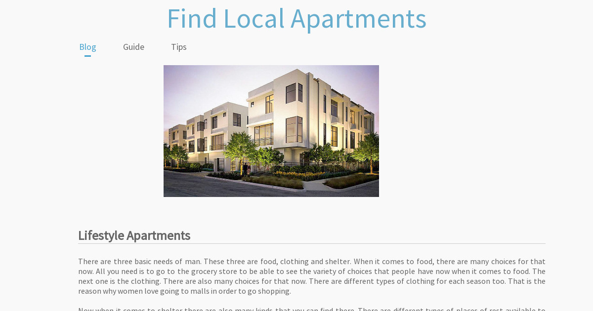 Find Local Apartments   SiteW